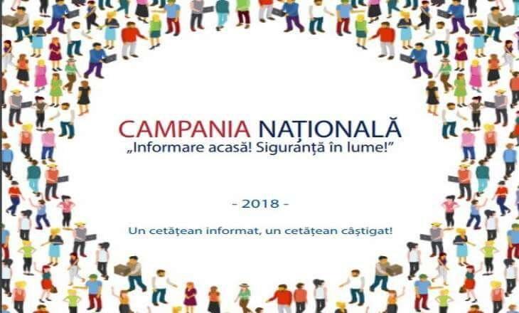 Campania Naţională INFORMARE acasă! SIGURANŢĂ în lume!