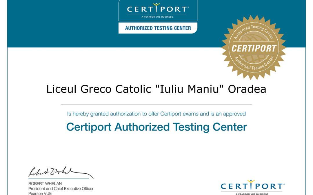 """Certificări IC3 în Liceul Greco-Catolic """"Iuliu Maniu"""""""