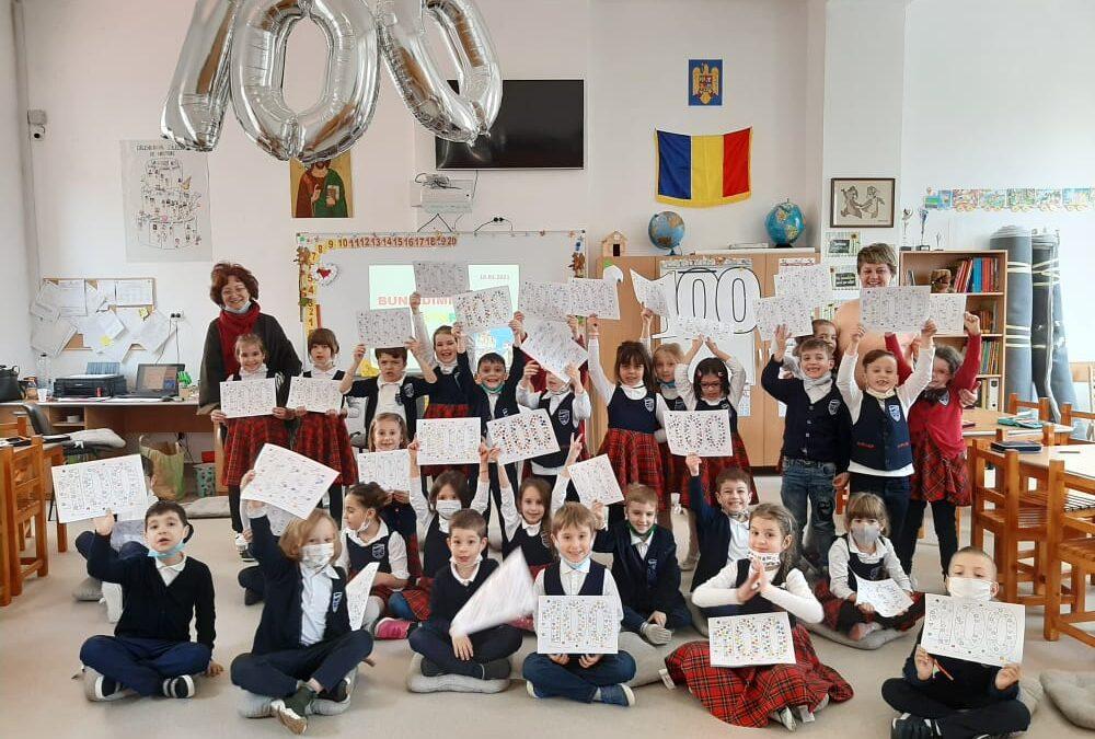 Primele 100 zile de şcoală din CLASA VEVERIŢELOR